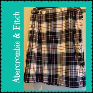 Abercrombie & Fitch plaid pure wool Skirt